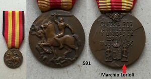 Medaglia Guerra di Spagna Lorioli 591