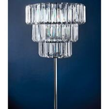 Florence 3 Tier Chandelier Crystal Effect Standing Floor Lamp 160cm