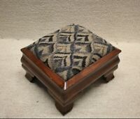 Small Upholstered American Empire Footstool