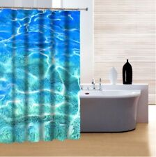 Contemporary Design 3D Printed Shower Curtain Waterproof Fabric +12 Hooks