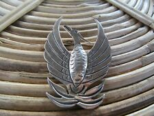 Silver Phoenix Brooch Unique Solid Sterling