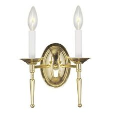 Livex Lighting Williamsburg Wall Sconce in Polished Brass - 5122-02