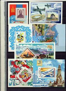 Mongolia 1980S Mini Sheets MNH x 38 Aviation Cars Wildlife(Tro 654