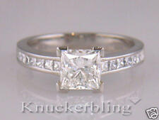Diamond Engagement Ring 2.22ct Certified F VVS2 VG Princess Cut 18ct White Gold