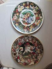 2 Christmas Collector Plates 1 Royal Doulton 1 St Nicholas Hamilton Collection