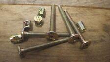 5 FURNITURE BOLTS & BARREL NUTS COT BED IKEA MFI 6mm x 60mm M6 x 60 SCREWS