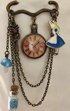 Alice In Wonderland Pin Brooch Enamel Artisan handmade USA 1164