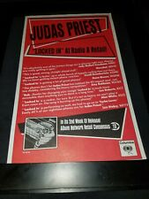 Judas Priest Locked In Rare Original Radio Promo Poster Ad Framed!