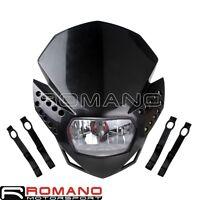 Black Headlight Motorcycle Dirtbike Headlamp 12V 35W With LED Turn Signal Light