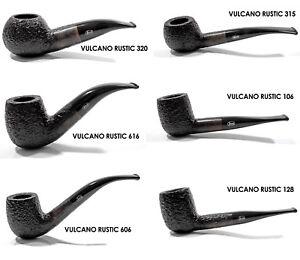 Savinelli Rossi Pfeife - Vulcano Rustic - Rustiziert - 9mm Filter - Neu