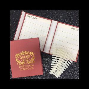 Nail Polish Display Book Red 120 Tips Gel Polish Nail  Colour Chart