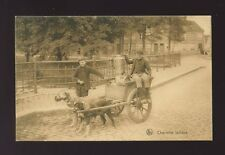Belgium DOG CART Charrette Laitiere milk sellers Used 1910 PPC
