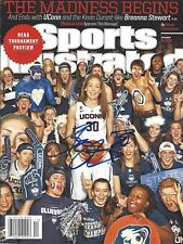 BREANNA STEWART AUTOGRAPH SIGNED SPORTS ILLUSTRATED MAGAZINE UCONN STORM COA