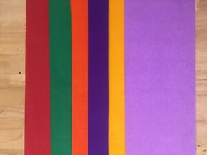 Crepe Paper  6 Sheets multicoloredl / Paper Flowers/ Wedding - Party- Crafts