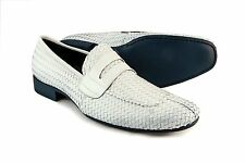 Jo Ghost 1373M Men's White Patent Leather Loafers