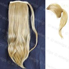 Wiwigs Golden Blonde 1 Piece Straight Clip In Ladies Ponytail Wrap Hair Extensio