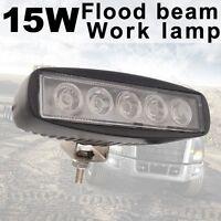 15W Black Flood LED Work Light Lamp Car Off road boat Truck Driving ATV 12V 24V