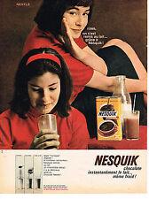 PUBLICITE  1963   NESQUIK de NESTLE   boisson chocolatée