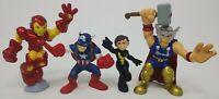 "Marvel Super Hero Squad 2.5"" Figure LOT Wasp IRON MAN Thor CAPTAIN AMERICA L4"