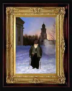 "Oil Painting PRINTED on Canvas Arseni ~ CHRISTMAS ANGEL 26"" X 18"" Art NO FRAME"