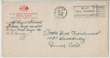 WW2 USA Army Air Force Signals Group cover 1943 Tampa Florida postmark Denver
