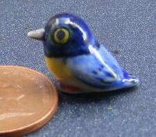 1:12 Scale Dolls House Miniature Multi Coloured Ceramic Bird Garden Accessory C
