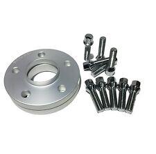 2 15mm Hub Centric Wheel Spacers 5x112 Mercedes 14x1.5 Chrome Lug Bolts 5 x 112