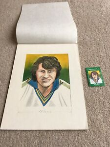 1978 Original Artwork Clive Whitehead Bristol City as used by Cornish Match Co