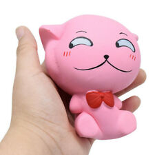 Jumbo Slow Rising Squishy Pink Cat Bread Buns Cream Scented Kid Toy Strap Gift