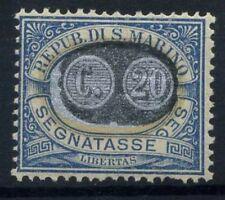 San Marino 1931 Sass. 35 MNH 100% Postage Due overprinted