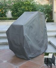 Premium Tight Weave Outdoor Stackable Chair Cover - Grey fits up to 8 Chairs