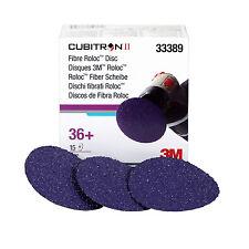 "3M 33389 Cubitron II 3"" 36 Grit Roloc Discs, 15 Discs Similar To 1344"