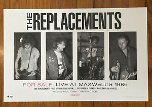 """The REPLACEMENTS  Maxwells Live album Promo Poster 17""""x 11"""" official Westerberg"""