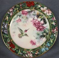 Anna's Hummingbird Collector Plate Lena Liu Treasury WS George 1992
