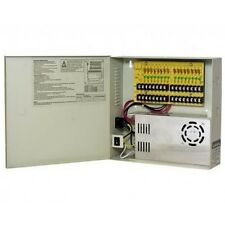 CCTV Power Supply Distribution Box 12V DC 16 channels High Output 30 Amps, Reset