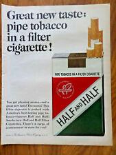 1964 Half & Half Pipe Tobacco in a Filter Cigarette Ad