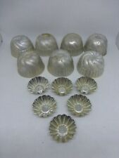 Vintage Aluminum Miniature Jello Molds Mini Tarts Fluted Metal Lot of 13