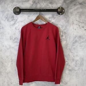 Vintage Air Jordan Blank Pullover Sweatshirt Red L
