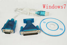 USB 2.0 to Serial DB 9 Pin RS232 Cable+ 25 Parallel Adapter Connector
