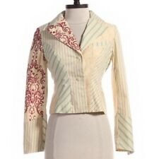 Elevenses Anthropologie RARE 2005 Embroidered Mixed Stripe Blazer Jacket 4
