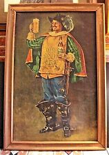 Cubs Fans Framed Oil On Canvas Old Style Beer 30X19 Grenadier Advertising RARE!