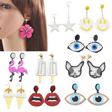 Sweet Style Earrings Kawaii Personality Jewellery Drop Pendant Acrylic Stud