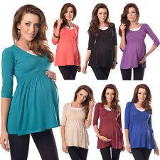 Purpless 3/4 Ärmel Schwangerschaft und Mutterschaft bequem Top Tunika Kleid d5200