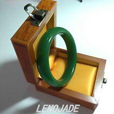 Emerald Icy Green Natural Beautiful Jade Jadeite Bangle Bracelet Hand-carved New