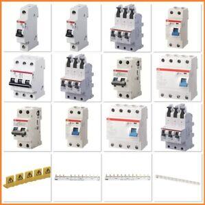 ABB Sicherung LS-Schalter FI-Schutzschalter Sicherungsautomat 1-/3-polig B und C