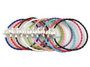 10pcs 20cm Mix Color Leather Charm Bracelets Fit European Beads P11