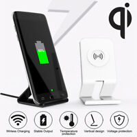 QI Wireless Fast Charging Charger Dock Stand Holder For iPhone 8 X Samsung S8