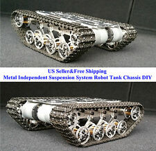 US Metal Independent Suspension System Robot Tank Chassis DIY Arduino Experiment