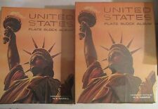 United States Plate Block Stamp Album set of 2 w/ 275 mint blocks appx $125 face