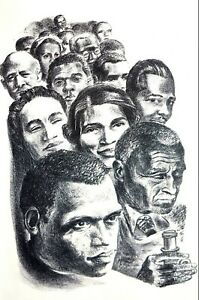 Black History 1947 ACHIEVED FREEDOM EDUCATION FAME POWER Matted Vintage Print